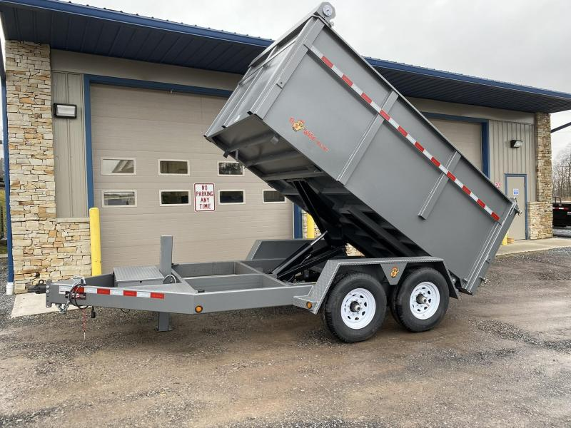 "2020 12' x 82"" Low Pro High Side Dump Trailer"