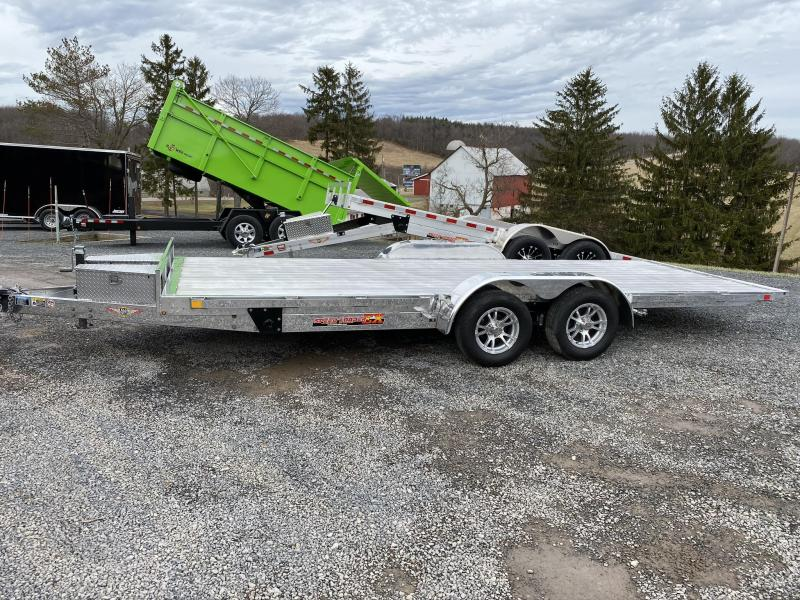"2019 H and H Trailer 82"" X 20' Electric Speedloader Aluminum Tilt Trailer"
