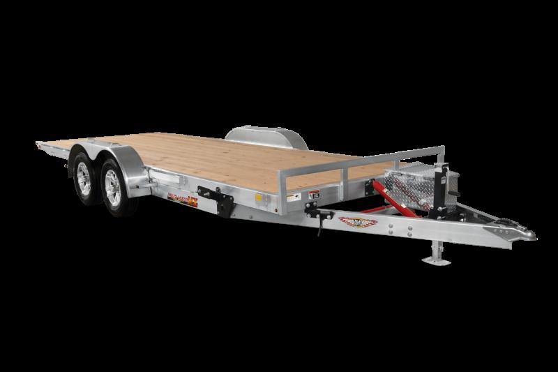"2019 H and H Trailer 82"" X 20' Electric Speedloader Aluminum TiltBed 7 Car / Racing Trailer"