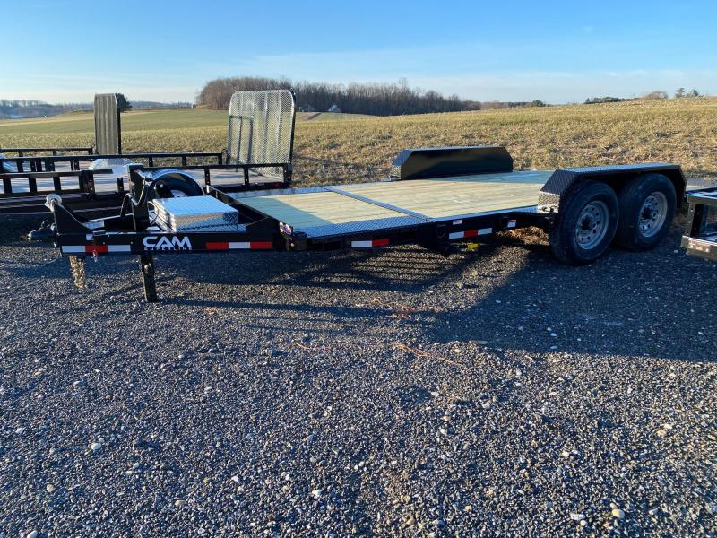 2020 Cam Superline 6CAM19STTXW 15 + 4 Split Deck Tilt Trailer Extra Wide Equipment Trailer