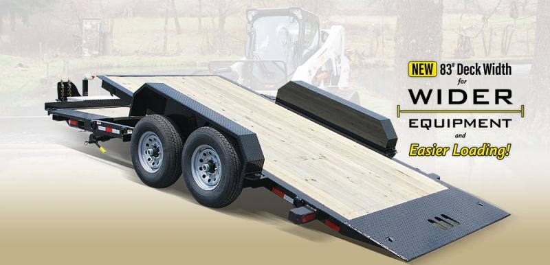 2020 Cam Superline 6CAM19STTXW 15 + 4 Split Deck Tilt Trailer Extra Wide Equipment Trailer
