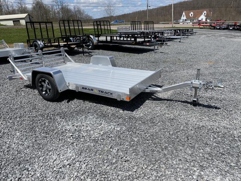 "2020 Bear Track 10' x 65"" Aluminum Single Axle Utility Trailer"