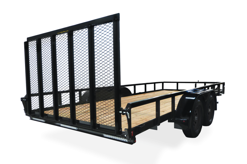 "2019 H and H Trailer 82"" x 14' Steel Railside Utility Trailer"