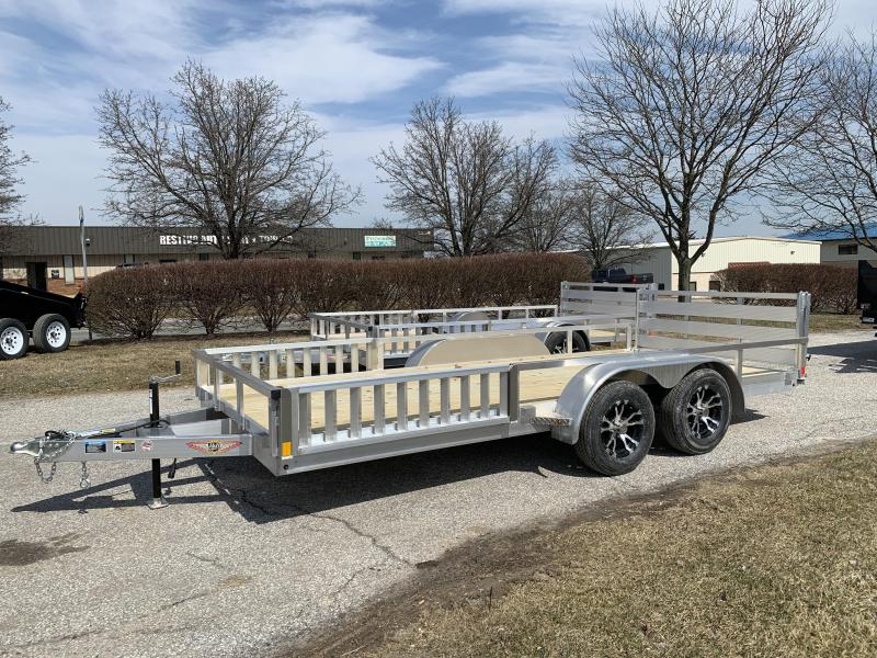 "2019 H and H 16' x 82"" Aluminum Railside ATV Utility Trailer"