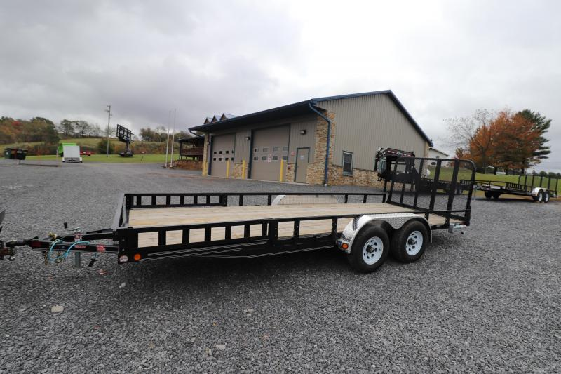 "2020 PJ Trailers 20' x 83"" Tandem Axle Channel Utility Trailer"