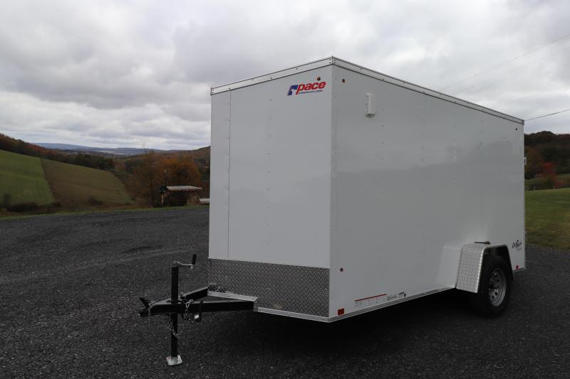 "2020 Pace American 6' x 12""  DLX Enclosed Cargo Trailer"