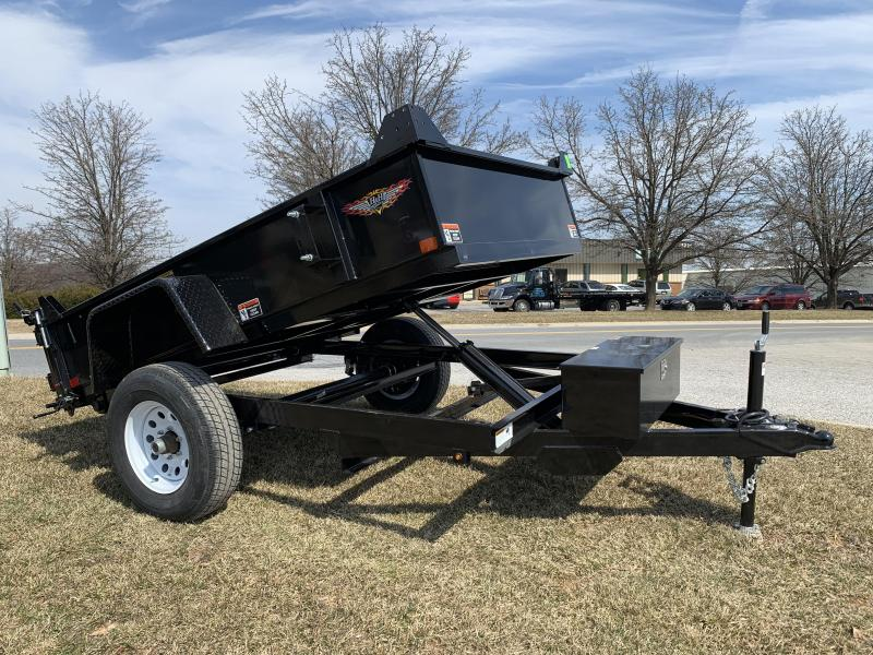 """2019 H and H Trailer 8' x 62"""" Small Utility Dump"""
