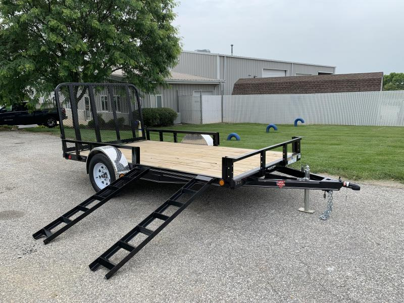 "2020 PJ Trailers 12' x 77"" Single Axle Channel Utility Trailer"