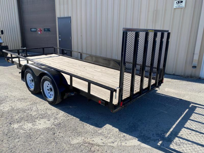 2020 H and H Trailer Steel Rail Side Tandem Utility 7k Trailer