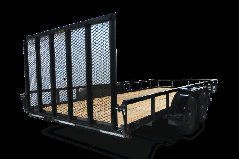 2020 H and H Trailer Steel Rail Side Tandem Utility 7k Trailer