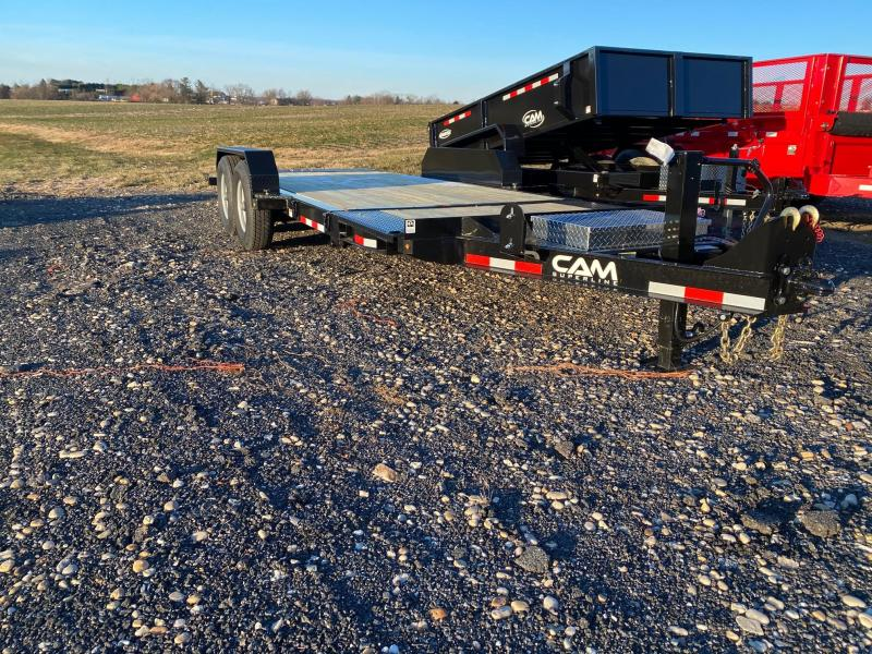 2020 Cam Superline 7CAM19STTXW Split Deck Tilt Trailer Extra Wide Equipment Trailer