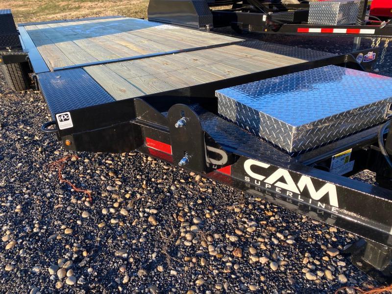 2020 Cam Superline 7CAM19STTXW Split Deck Tilt Trailer Extra Wide Equipment Trailer