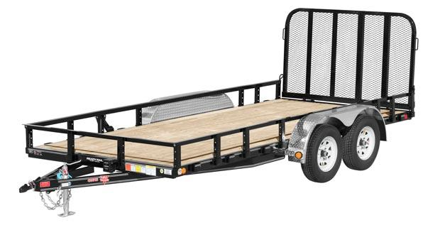"2020 PJ Trailers 18' x 83"" Tandem Axle Channel Utility Trailer"