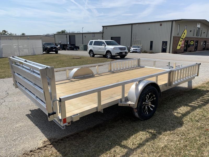 "2019 H and H Trailer 14' x 82"" Railside Aluminum Utlity/ATV Utility Trailer"