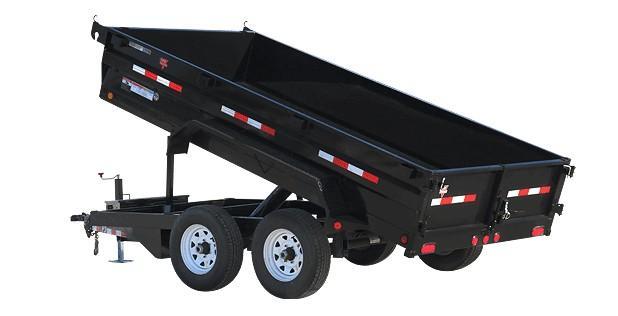 "2020 PJ Trailers 12' X 72"" Tandem Axle Dump (D3) Dump Trailer"