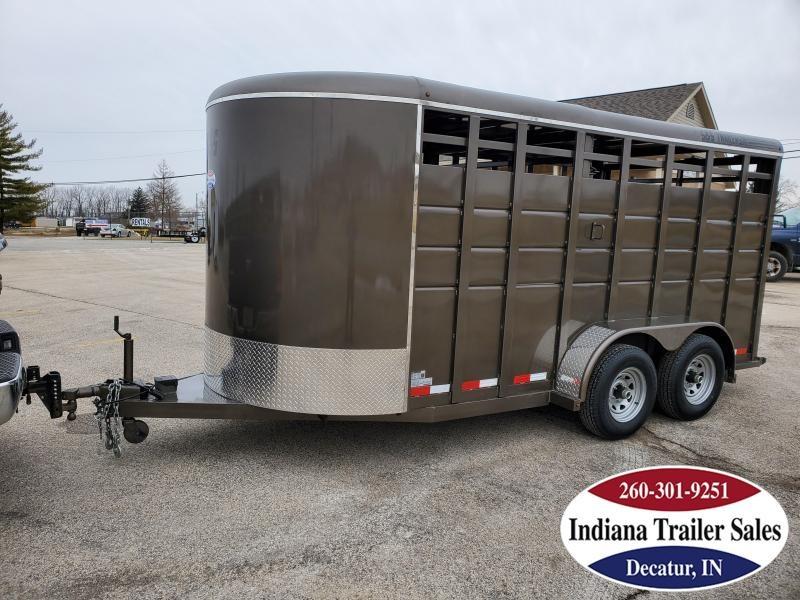 "2021 S&S Manufacturing 6'6""x16' Livestock Trailer"