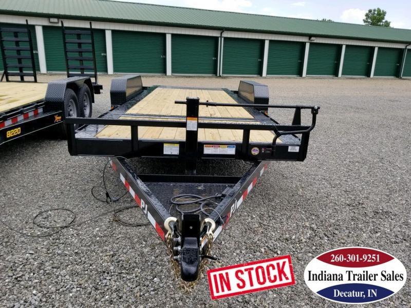 2020 PJ Trailers TJ2072 82x20 Equipment Trailer Tilt