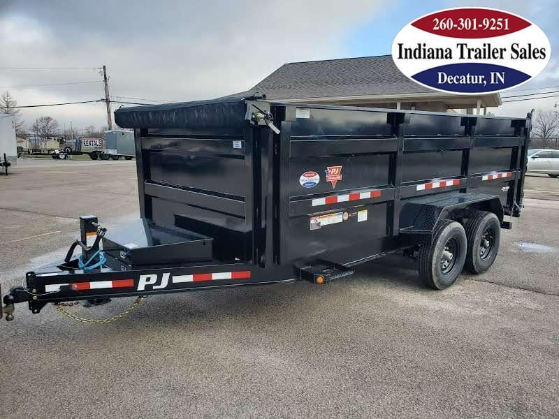 2021 PJ Trailers 83x14 DM142 Dump Trailer