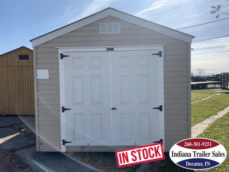 2019 Sheds Direct - Tan Vinyl Utility Shed