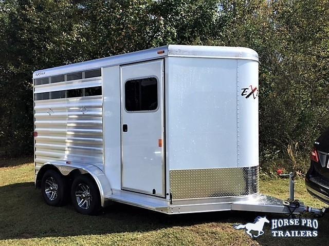 2020 Exiss CXF 2 Horse Slant Load Bumper Pull - POLYLAST FLOOR!