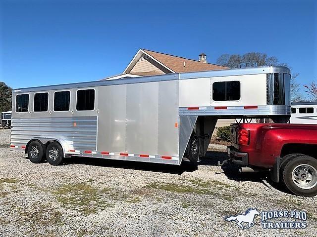 2019 Exiss 7400 4 Horse Slant Load Gooseneck w/POLYLAST FLOOR & INSULATED ROOF!