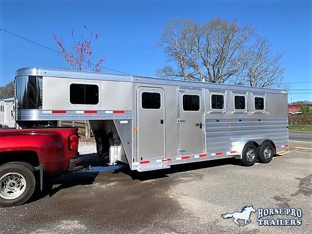 2020 Exiss 7400 4 Horse Slant Load Gooseneck w/POLYLAST FLOOR & INSULATED ROOF!