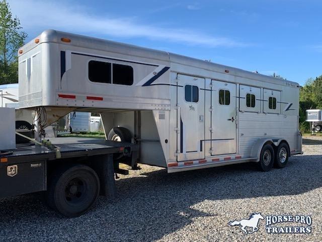 1995 4-Star 3 Horse Slant Load Gooseneck w/RAMP- WARMBLOOD SIZE & NEW TIRES!!