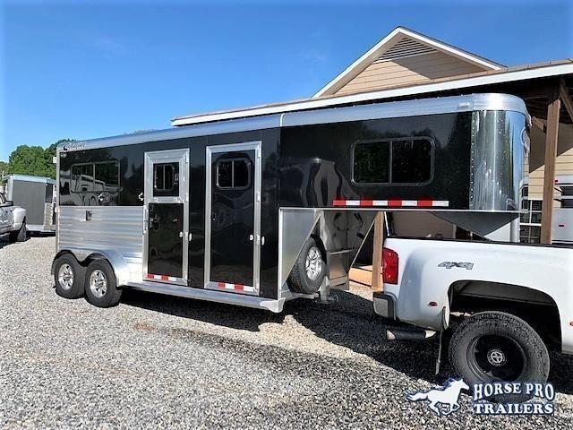 2020 Cimarron 2 Horse Straight Load Gooseneck w/WERM FLOORING & 5' DRESSING ROOM