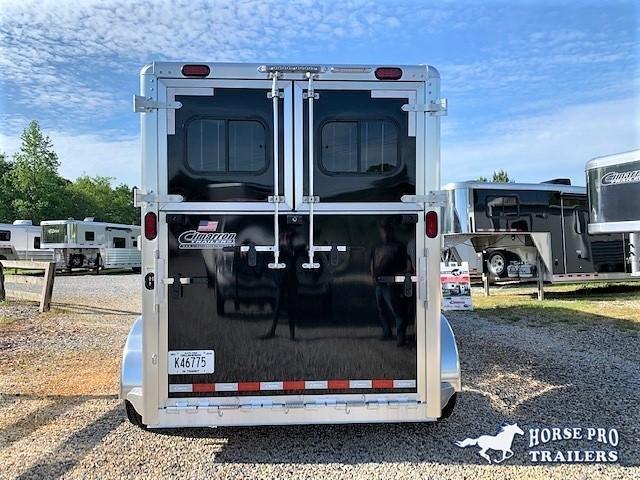 2020 Cimarron 2 Horse Straight Load Gooseneck w/jack, WERM &5' DRESSING ROOM!