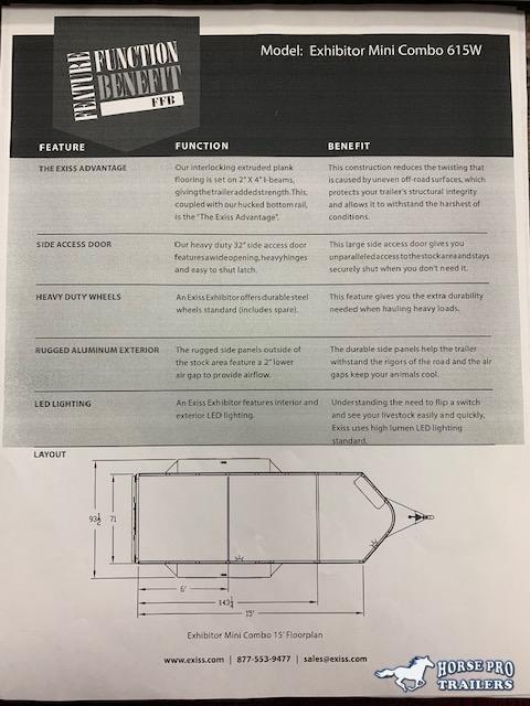 2020 Exiss Mini Stock Combo Bumper Pull w/RAMP & 60/40 PEN SYSTEM