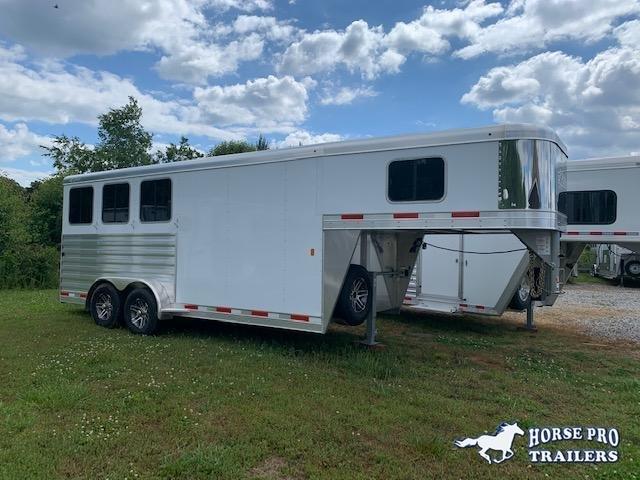 2020 Exiss 7300 3 Horse Slant Load Gooseneck w/REAR TACK & POLYLAST FLOORING!