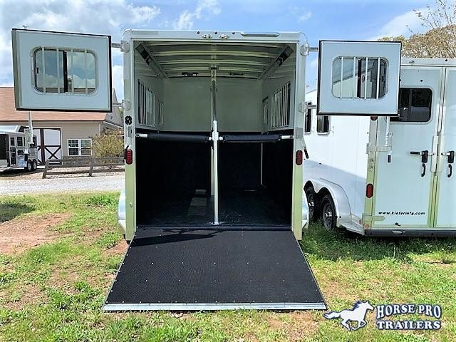 2020 Exiss Trailers 722 2 Horse Straight Load Bumper Pull Horse Trailer