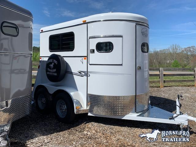 2020 Bee 2 Horse Straight Load Bumper Pull w/Walk-Thru Door