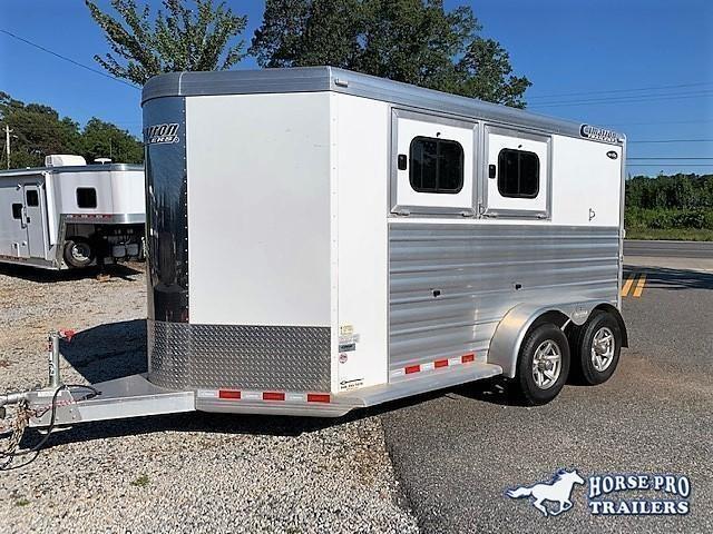 2020 Cimarron 2 Horse Slant Load Bumper Pull w/REAR RAMP