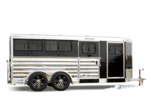2020 Exiss Exhibitor Mini Combo 615W Livestock Trailer