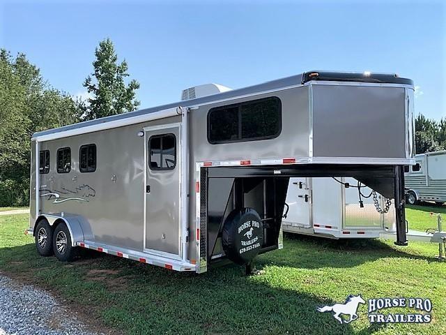 2020 Homesteader 3 Horse Slant Load Gooseneck w/AWNING & A/C!