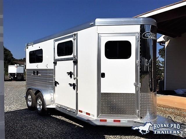 2020 Cimarron Norstar 2 Horse Straight Load Bumper Side Ramp Pull XL w/Side Ramp