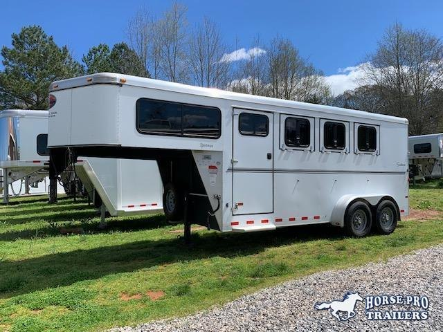 2011 Sundowner 3 Horse Slant Load Gooseneck w/Rear Tack All aluminum