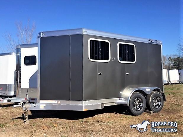 2020 4-Star 2 Horse Slant Load Bumper Pull w/Rear Tack
