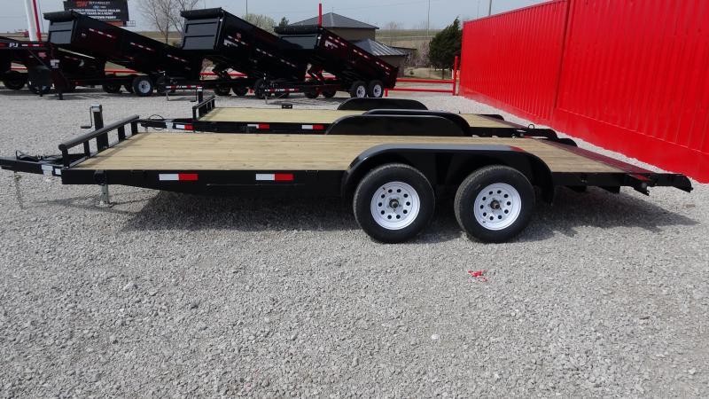 18' 5STAR Flatbed Tandem Axle Car Hauler/Equipment Trailer W/Dovetail