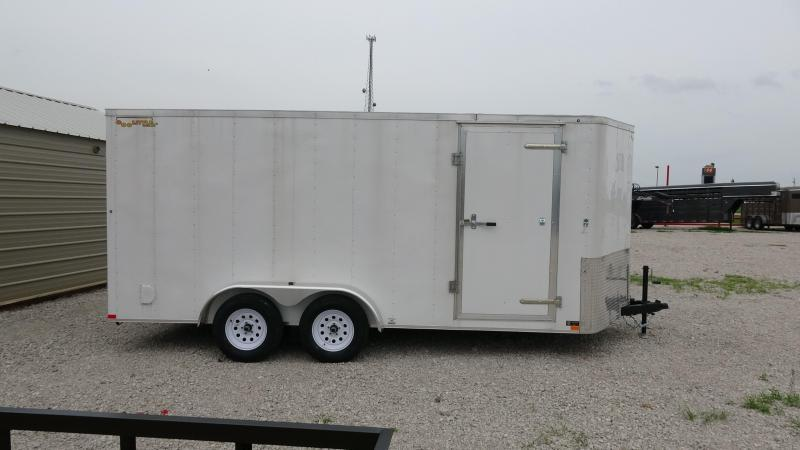 2019 16x7 Doolittle Bullet Series Enclosed Trailer Single 3500lb Axle White