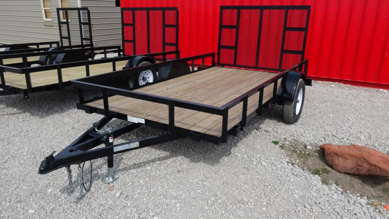 2019 5STAR 12x6.4 Gated Single Axle Utility Trailer Utility Trailer