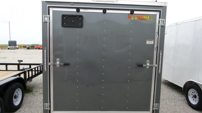 2019 Doolittle Trailer Mfg 2019 12x7 Doolittle Bullet Series Enclosed/Cargo Trailer Single 3500lb Axle Metallic Gray
