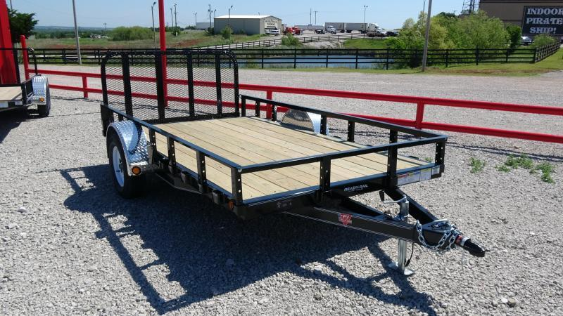 "2020 PJ 12'x77"" Single Axle Channel Utility with dovetail and 3' Fold-up Gate"