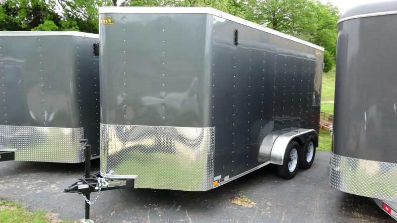 2019 Doolittle Trailer Mfg 2019 16x7 Doolittle Bullet Series Tandem Axle Enclosed Trailer in White or Gray