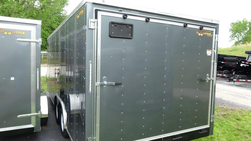 2019 Doolittle Trailer Mfg 2019 20x8.5 Doolittle Bullet Series Enclosed/Cargo Trailer Tandem 3500lb Axle Metalic Gray