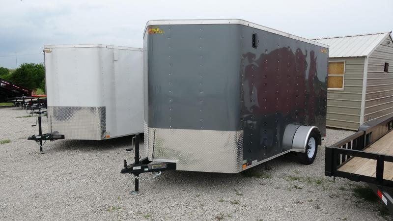 2019 Doolittle Trailer Mfg 2019 12x7 Doolittle Bullet Series Enclosed/Cargo Trailer Single 3500lb Axle Metallic Gray