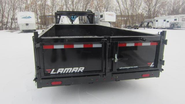 2020 Lamar Trailers 83x16 Goose Neck Low-Pro 14K Dump Trailer