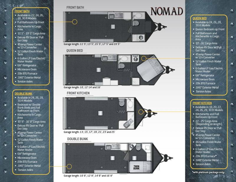 2020 Stealth Trailers Nomad Toy Hauler RV