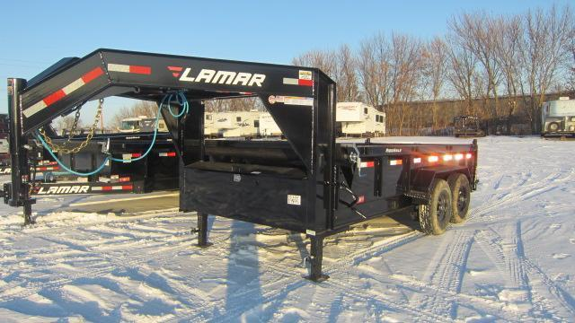 2020 Lamar Trailers Goose neck 83x14 Low-Pro 14K Dump Trailer